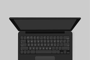 Vector icon of computer laptop icon