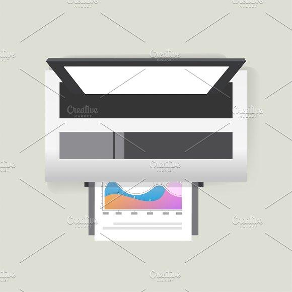 Vector Icon Of Printer