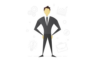 Businessman flat character design