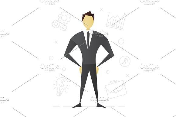 Businessman Flat Character Design