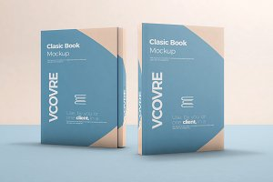 Book Hard Cover Mockup 7
