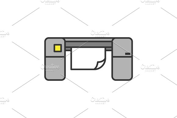 Large Format Printer Color Icon