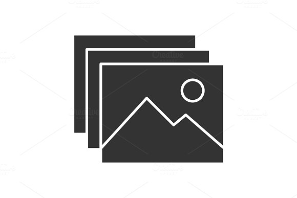 Digital Images Photos Glyph Icon