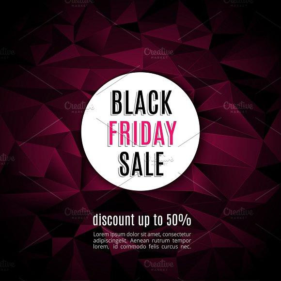 Sale Black Friday Banner Background