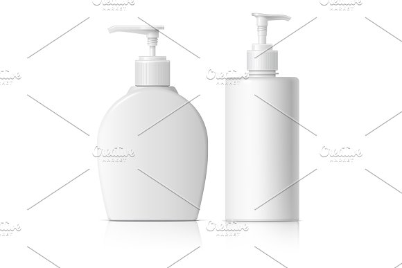 Realistic Cosmetic Translucent Bottl