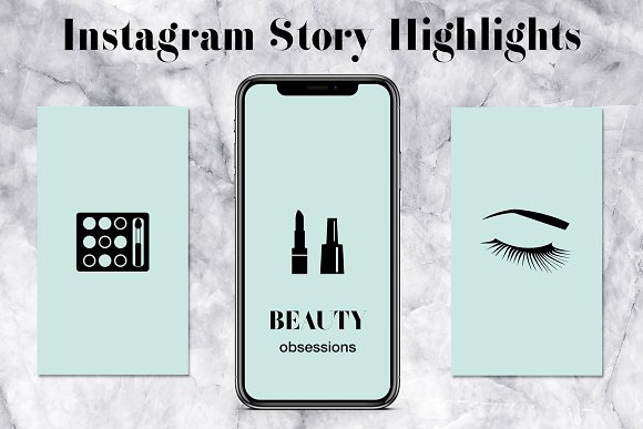 Mint Insta Story Highlights Icons