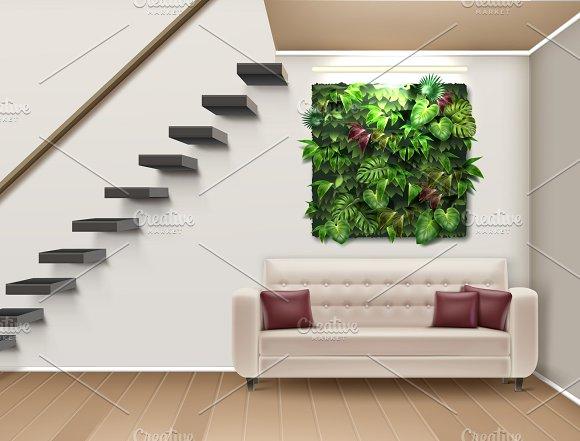 Interior Design With Vertical Garden