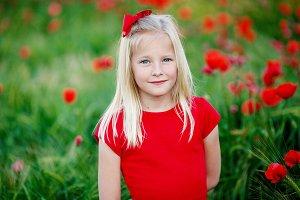 A Girl In Poppy Field