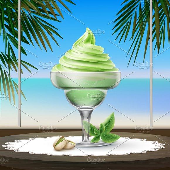 Pistachio Ice Cream With Nuts