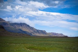 South Icelandic mountain landscape