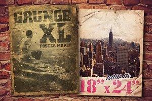 """Grunge Poster Maker XL - 18"""" x 24"""""""