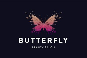Butterfly. Logo for beauty salon