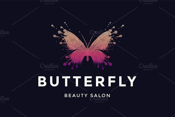 Butterfly Logo For Beauty Salon