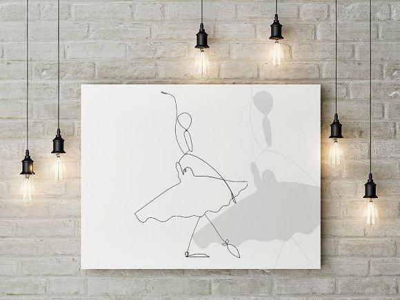 Set Of Ballerinas