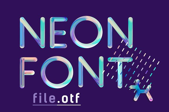 NEON FONT File.otf