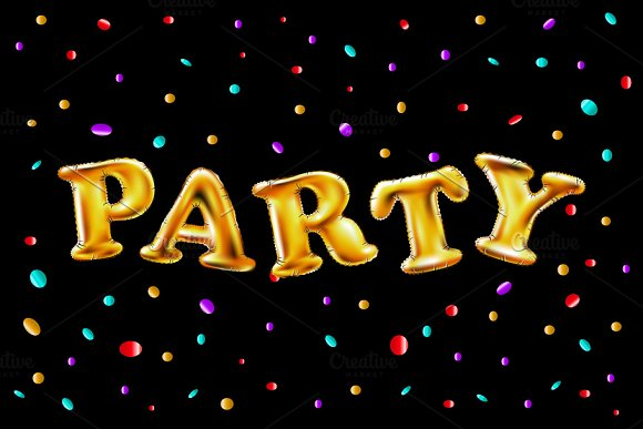 Gold Party Balloons §Ю§е§г§Ц§л§Ь