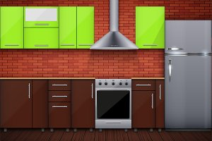 Typical modular kitchen