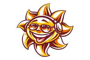Happy Sun Vector Art | 3 Versions