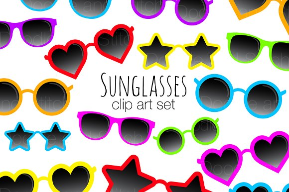 Sunglasses Clipart Illustrations
