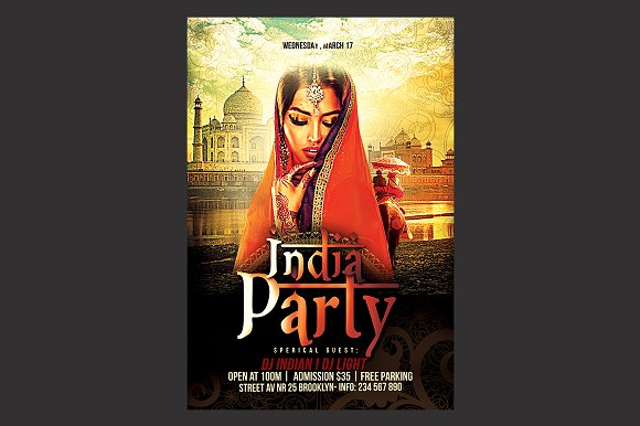 India Party Flyer