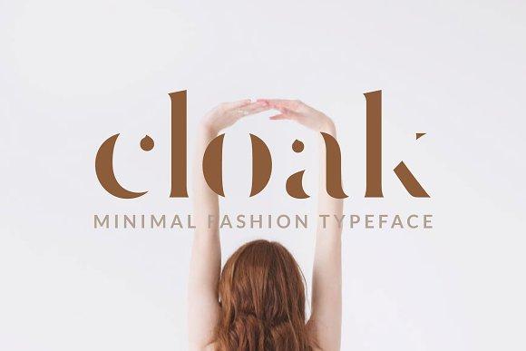 Cloak Minimal Fashion Font