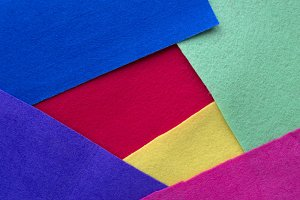Background of colored fabrics.