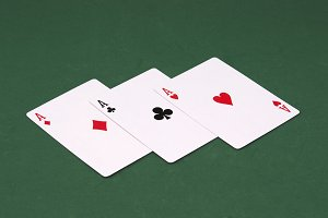 Three Aces of poker.