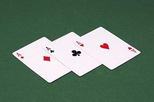 Three Aces of poker.