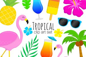 Tropical Clipart Illustrations