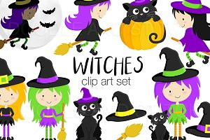 Halloween Witch Clipart Designs