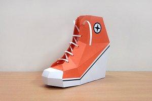 DIY Converse Shoe - 3d papercraft