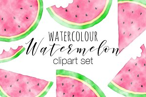 Watercolor Watermelon Illustrations