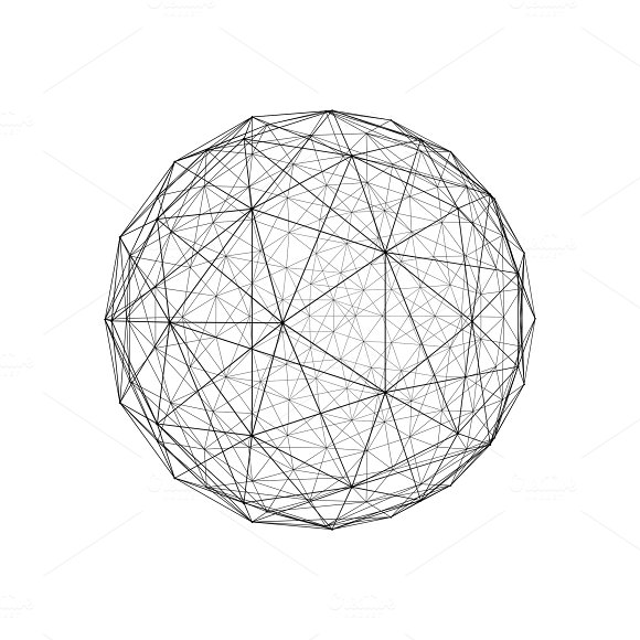 Sphere Architecture Facade Design Isolated On White Background 3D Illustration