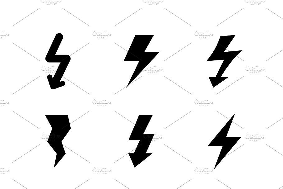 Set icons of lightning