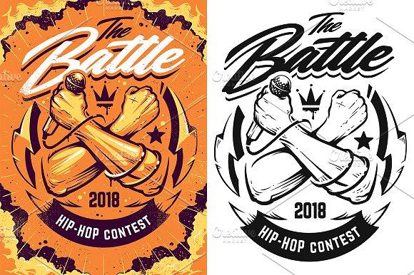 Hip-Hop Battle Poster Template
