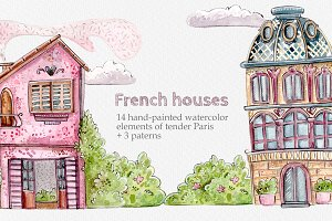 French Houses Set + 3 patterns