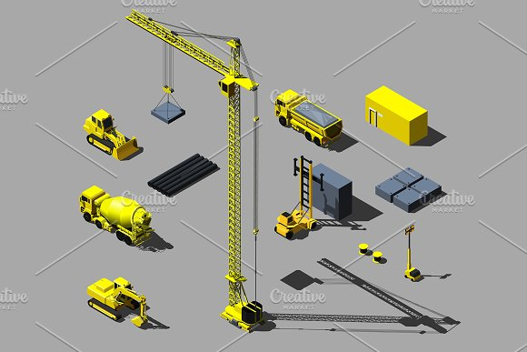 Construction Vehicle And Objects