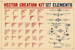 VECTOR CREATION KIT - 127 elements