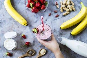 Strawberry Banana Smoothies