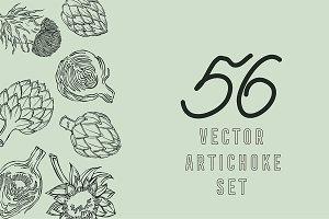 Artichoke, vector