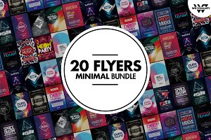 MINIMAL Flyer Template Bundle Vol.1
