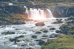 Summer Iceland Landscape with a