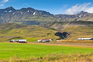 Mountains landscape with Icelandic