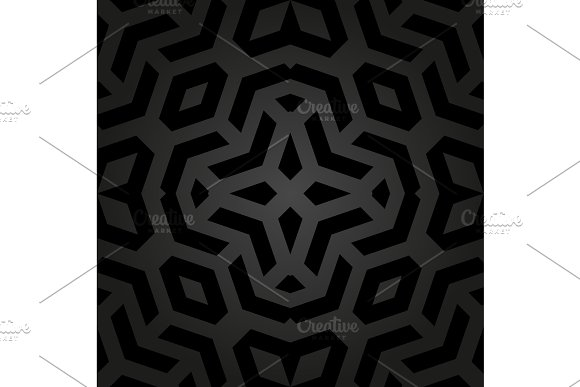 Geometric Seamless Vector Abstract Pattern