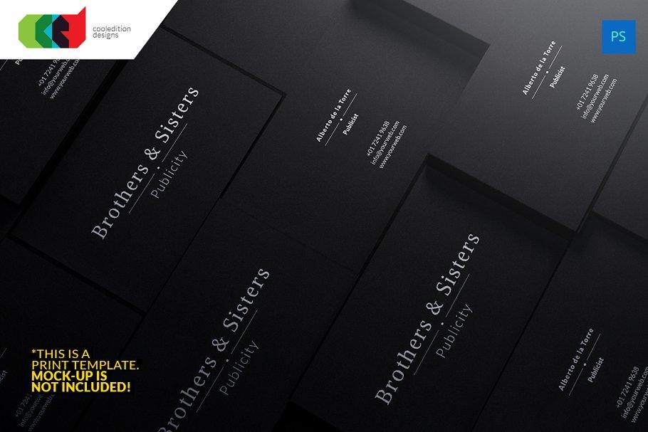 Dark business card 58 business card templates creative market pro previous colourmoves