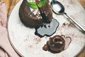 Souffle dessert cake
