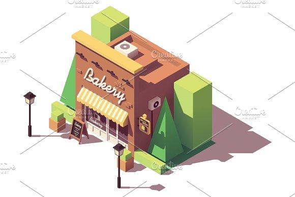 Vector Isometric Bakery Shop