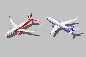 Vector isometric passenger jet
