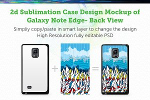 GalaxyNote Edge2d Sublimation Mockup