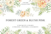 Forest Green & Blush Pink